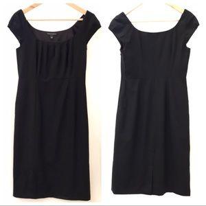 EUC (Worn Once) BR Wool Capped Sleeve Black Dress
